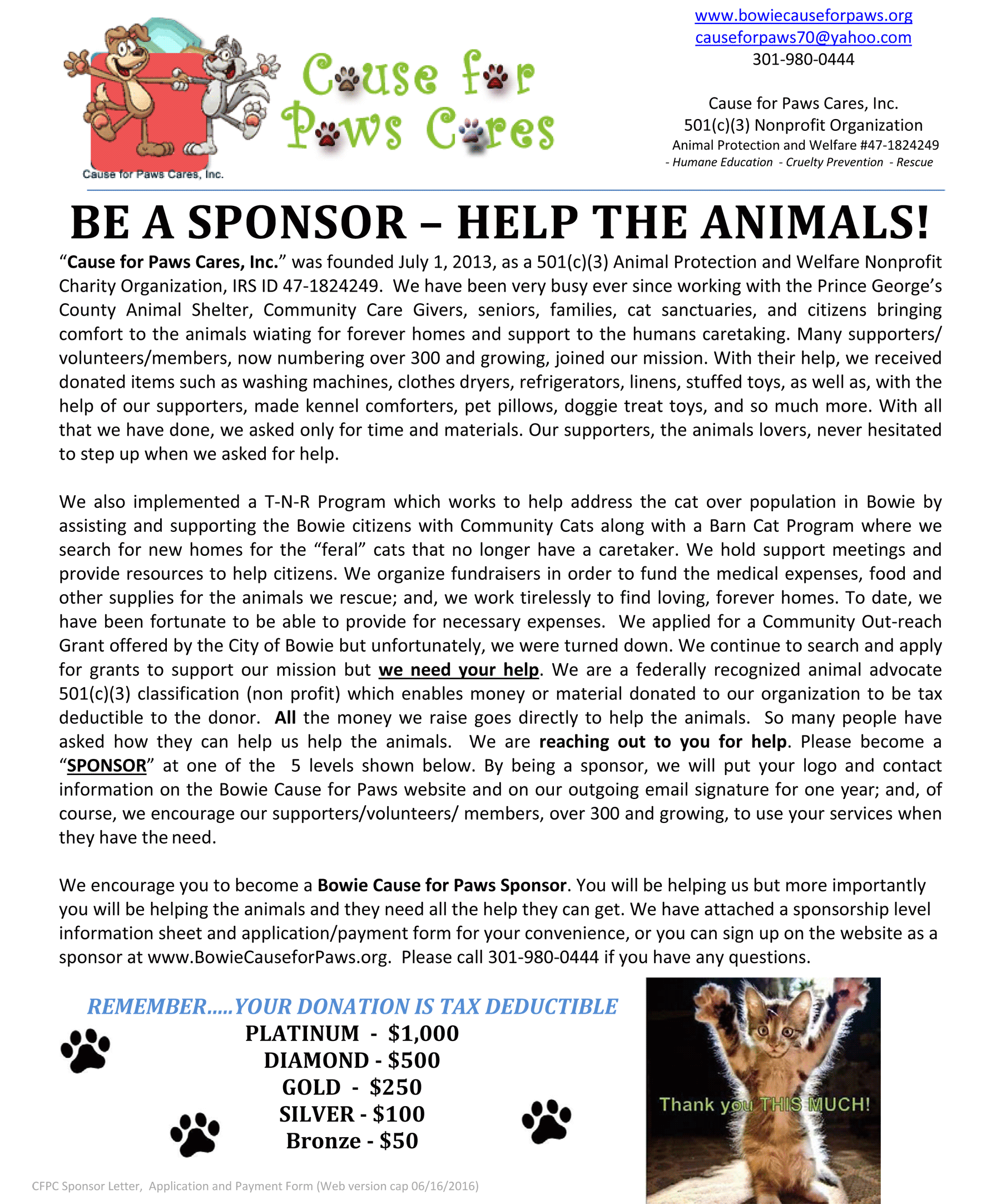 Cause for paws cares inc become a sponsor download sponsor letter application and payment form pdf doc thecheapjerseys Choice Image